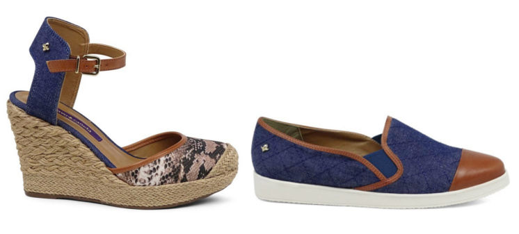 Sapatos Jeans Cravo Canela