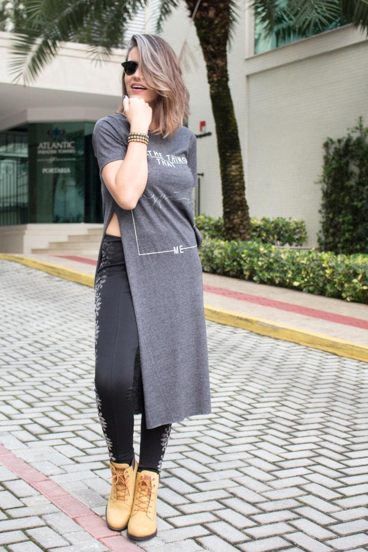 Maxi t-shirt look
