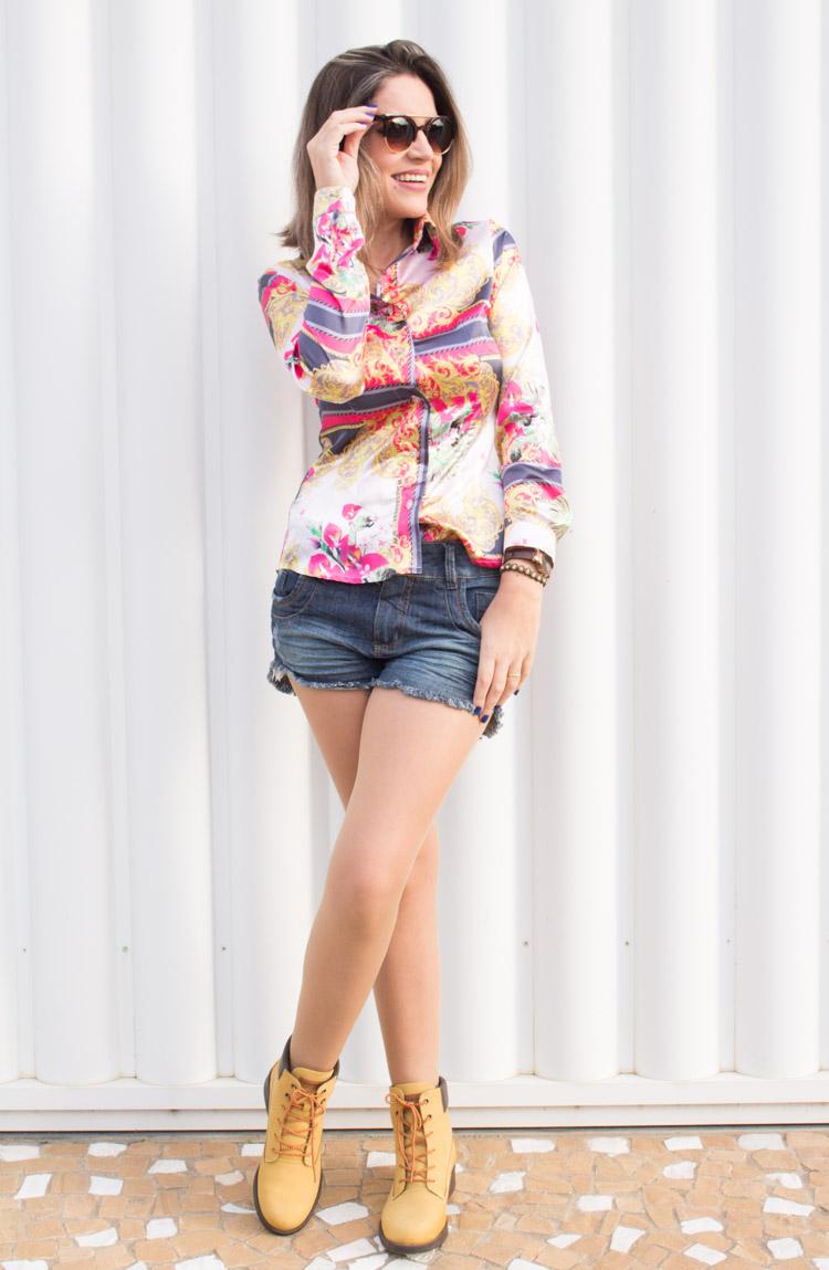 Look camisa floral