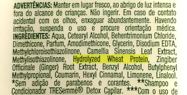 Hidratante Detox capilar tresseme