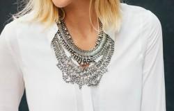 Maxi colar prata moda 2017