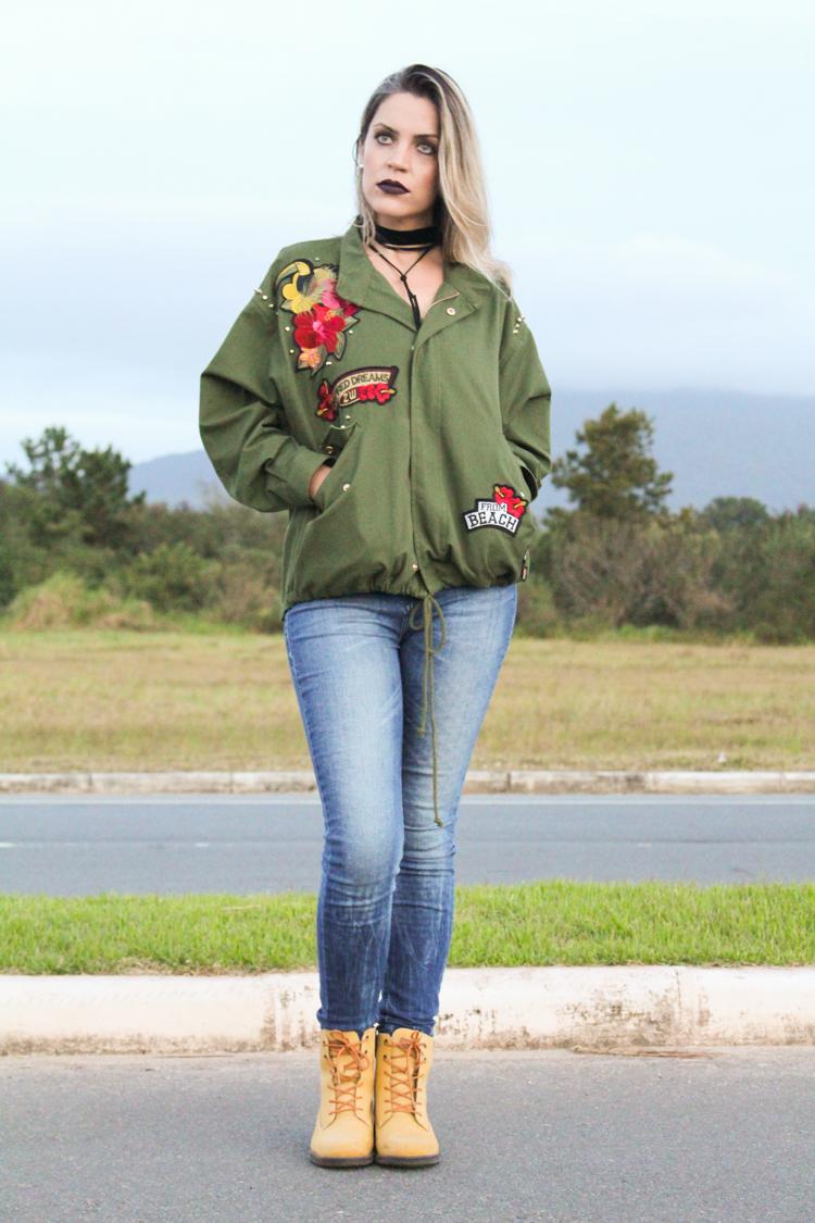 Look Parka Militar Zara