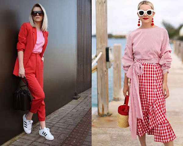 Tendências invernos 2019 rosa com vermelho